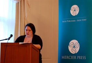 Samantha Holman of the ICLA addresses the Mercier Author Meeting