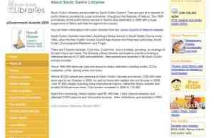 A screenshot of SCD Library Website