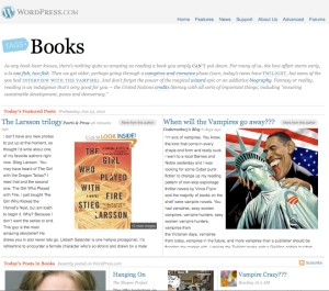 Wordpress Books Tag Page